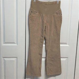 Two Hearts Maternity Corduroy Pants Size M Tan